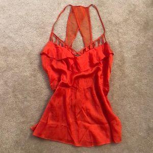 Rebecca Minkoff size 2 silk and cotton orange tank